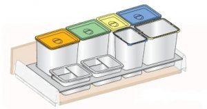 BC-120 Bandeja con cubos para cajón