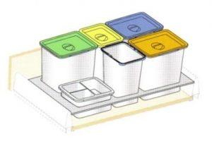 BC-90 Bandeja con cubos para cajón
