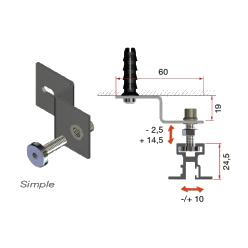 RC-3 Soporte simple con regulación